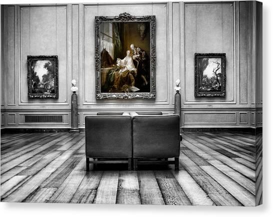 National Gallery Of Art Interiour 1 Canvas Print by Frank Verreyken