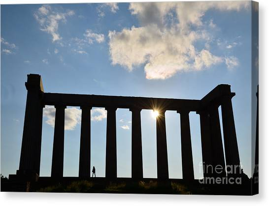 National Monument Of Scotland In Edinburgh Canvas Print