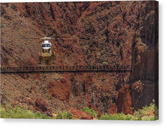 National Park Helicopter Canvas Print