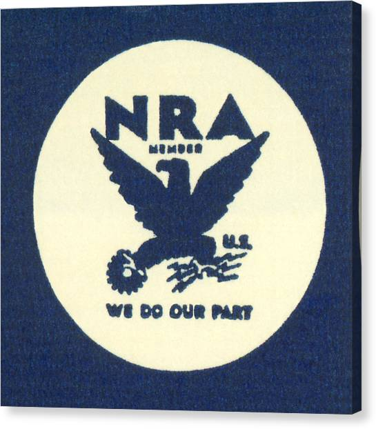 Nra Canvas Print - National Recovery Act Symbol by Underwood Archives