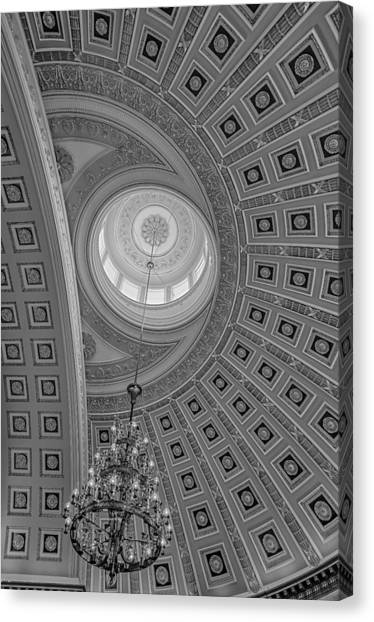 National Statuary Rotunda Bw Canvas Print