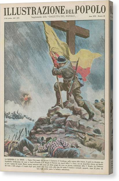 Atheism Canvas Print - Nationalists Capture The  Sanctuary by Mary Evans Picture Library