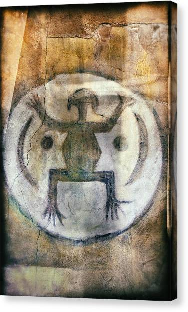 Native American Frog Pictograph Canvas Print