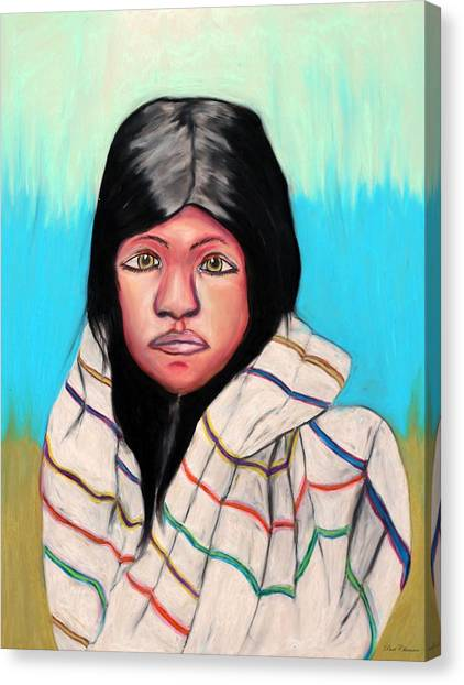 Native American Girl 1 Canvas Print