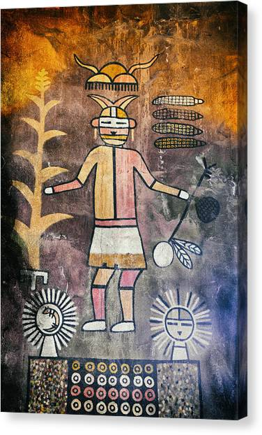 Native American Harvest Pictograph Canvas Print
