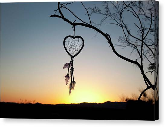 Catchers Canvas Print - Native American Heart Shaped by Angel Wynn
