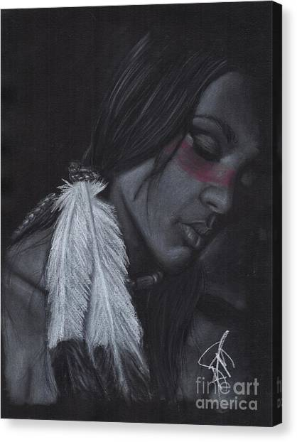 Native American Canvas Print by Rosalinda Markle