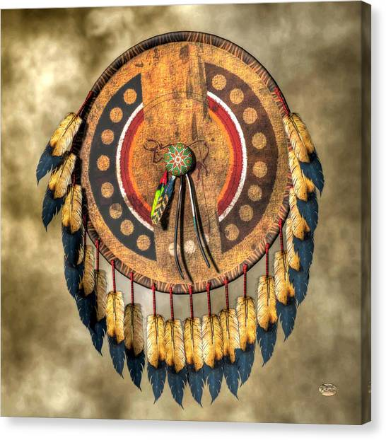Native American Shield Canvas Print