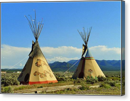 Native American Teepees  Canvas Print