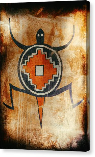 Native American Turtle Pictograph Canvas Print