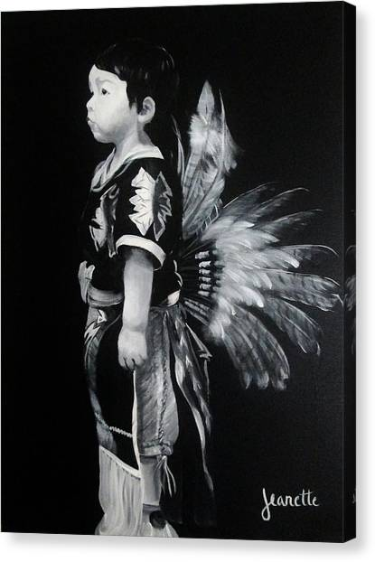 Native Boy Canvas Print