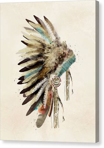 Native Americans Canvas Print - Native Headdress by Bri Buckley