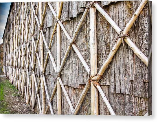 Native Longhouse Canvas Print by Nick Mares