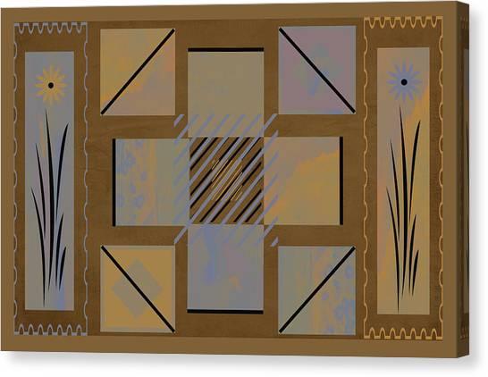 Frank Stella Canvas Print - Native Path by Linda Dunn