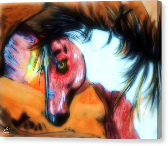 Native War Horse 2 Canvas Print
