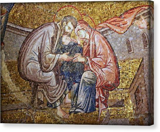 Byzantine Canvas Print - Nativity by Stephen Stookey