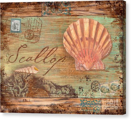 Conch Canvas Print - Natura Scallop by Paul Brent