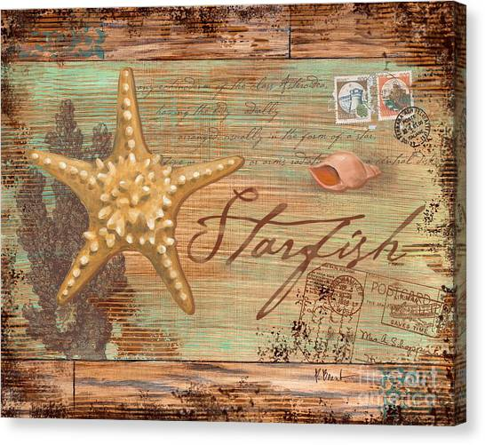 Conch Canvas Print - Natura Starfish by Paul Brent