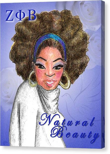 Zeta Phi Beta Canvas Print - Natural Beauty by BFly Designs