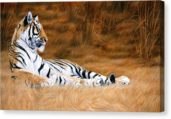 Bengal Tiger Canvas Print - Natural Beauty by Lucie Bilodeau