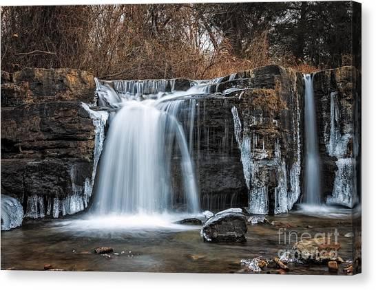 Natural Dam Winter Canvas Print