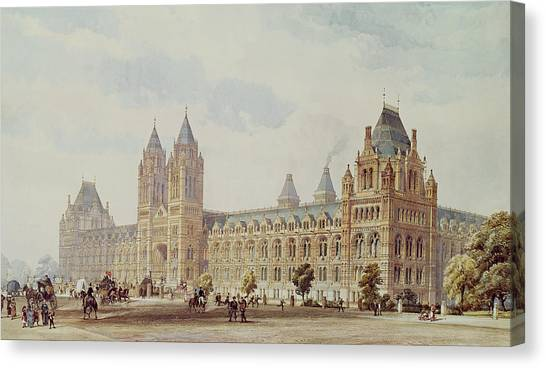 The British Museum Canvas Print - Natural History Museum  by Alfred Waterhouse