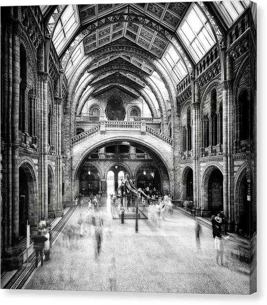 History Canvas Print - Natural History Museum Of London by Santiago Pascual Buye
