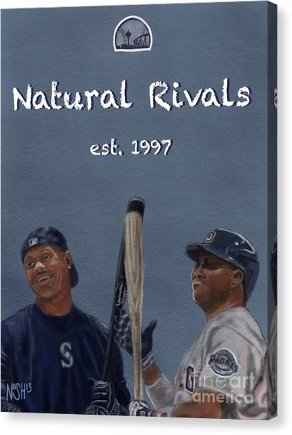Seattle Mariners Canvas Print - Natural Rivals by Jeremy Nash