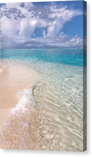 Natural Wonder. Maldives Canvas Print