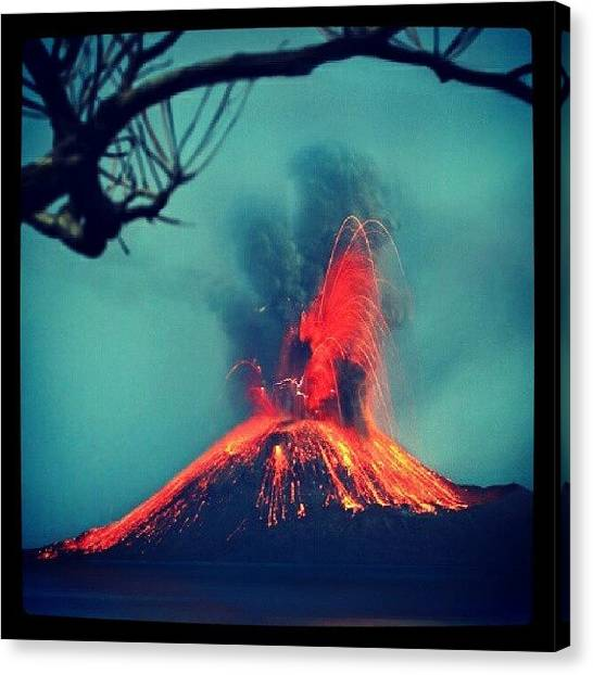 Lava Canvas Print - #nature #instadroid. #mountain. #lava by Ade Sulaiman