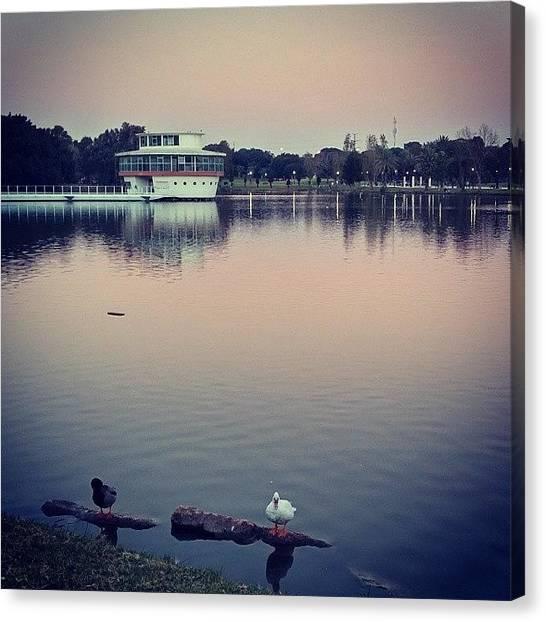 Lake Sunsets Canvas Print - #nature #lake #sky #sunset #water by Eliran Zango
