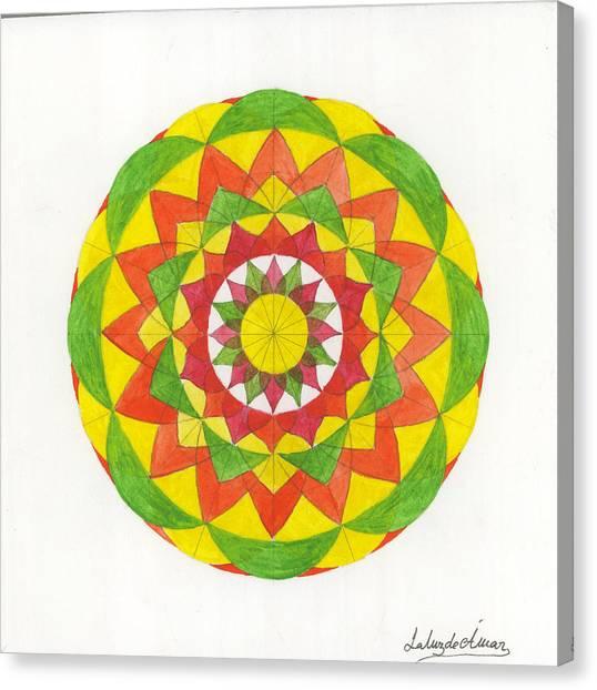 Nature Mandala Canvas Print by Silvia Justo Fernandez