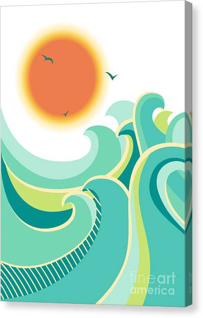 Nature Canvas Print - Nature Seascape Poster Background With by Tancha