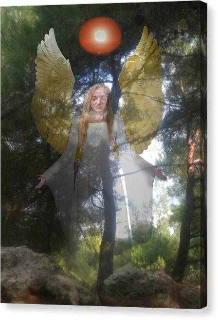 Canvas Print featuring the photograph Nature's Angel by Eric Kempson