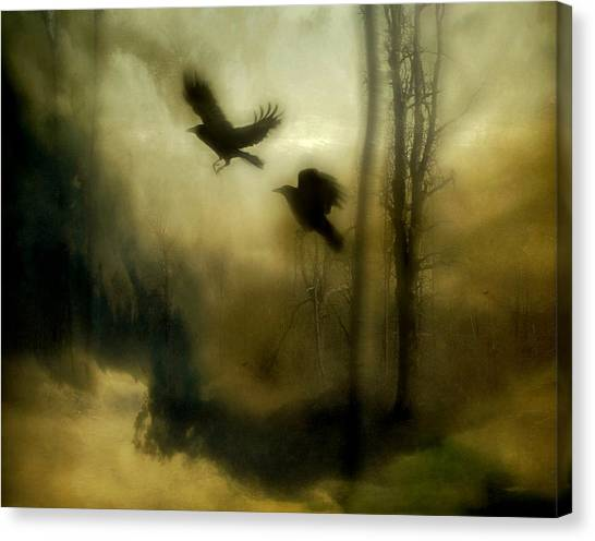 Woodland Canvas Print - Nature's Blur by Gothicrow Images