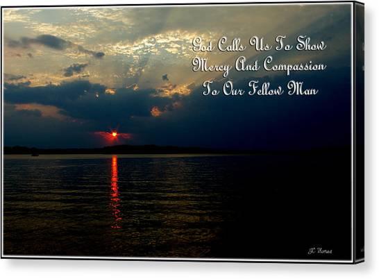 Natures Sunset Canvas Print