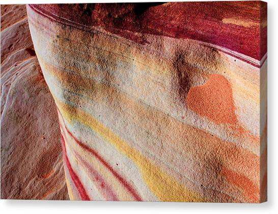 Valley Of Fire Canvas Print - Nature's Valentine by Chad Dutson