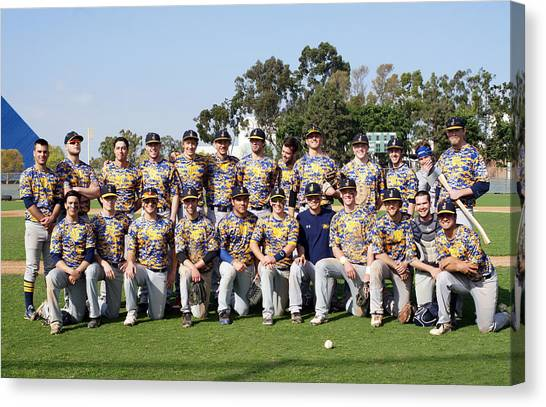 Northern Arizona University Nau Canvas Print - Nau Club Baseball Team by Rosalie Vaccaro