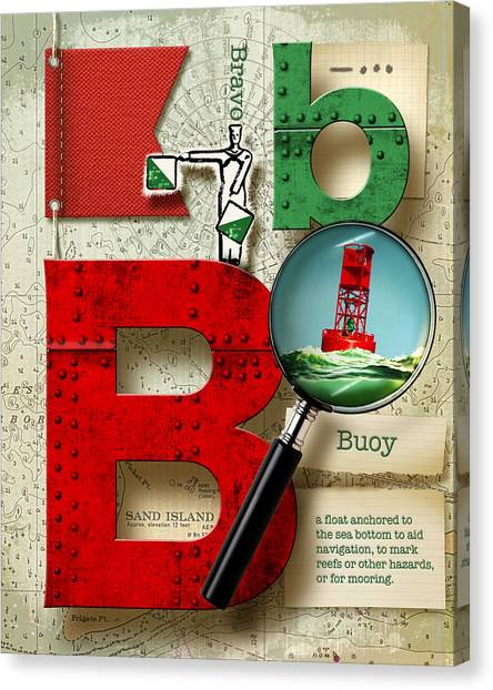 Nato Canvas Print - Navy Alphabet Nautical Letter B by Vanessa Bates