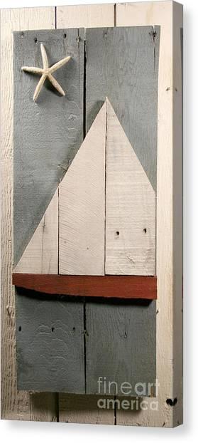 Nautical Wood Art 01 Canvas Print by John Turek