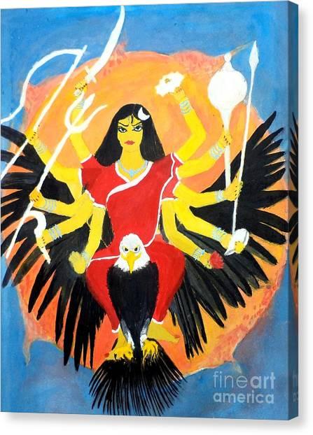 Nava Durga Chandraghanta Canvas Print
