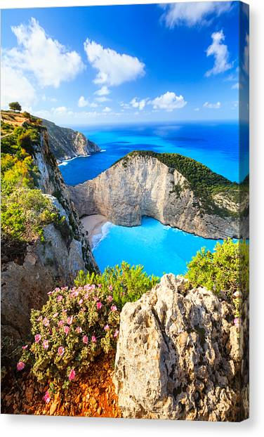 Navagio Bay Canvas Print