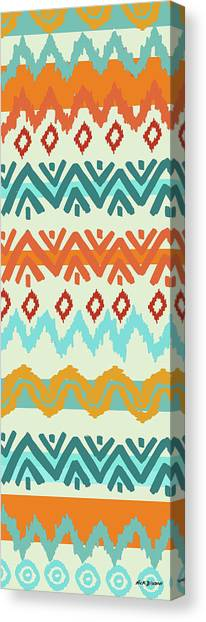 Southwest Canvas Print - Southwest Pattern I by Nicholas Biscardi