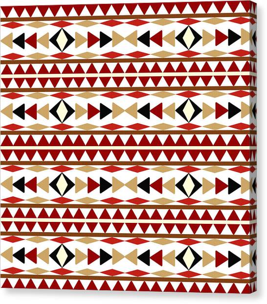 Pattern Canvas Print - Navajo White Pattern by Christina Rollo