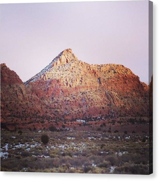 Navajo Winter Canvas Print by Jake Harral
