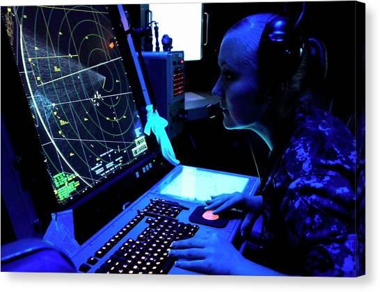 Air Traffic Control Canvas Print - Naval Air Traffic Control by Us Air Force/gretchen M. Albrecht