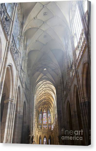 Nave Of The Cathedral Canvas Print