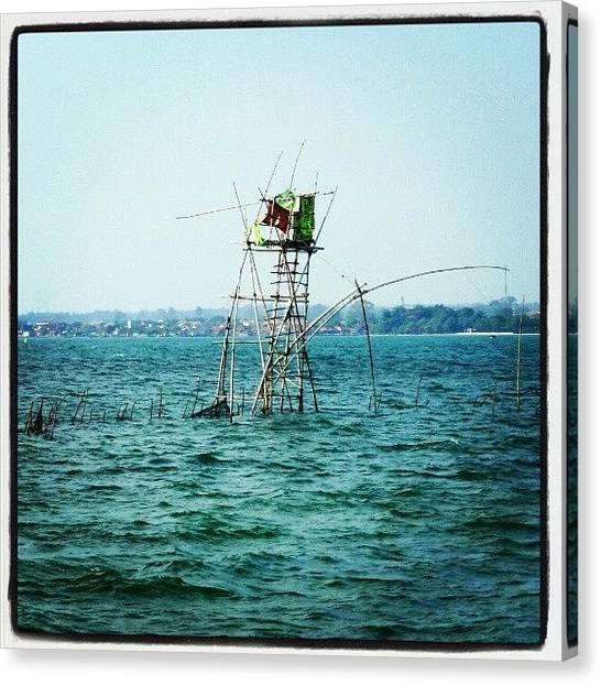 Fishing Poles Canvas Print - Navigasi Pancing by Rahmat Nugroho