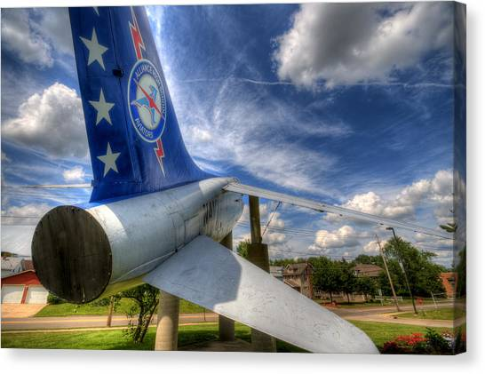 Navy A-7 Fighter Static Display Canvas Print