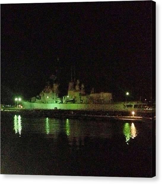 Battleship Canvas Print - #navy #battleship #marina #militare by Fabrizio Morviducci